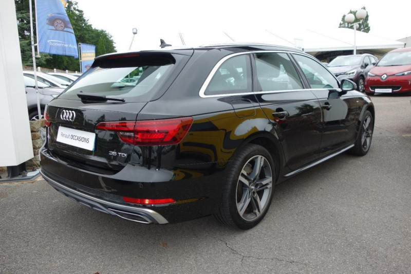 Audi A4 Avant 35 TDI 150 S tronic 7 S line Noir occasion à PLOERMEL - photo n°5