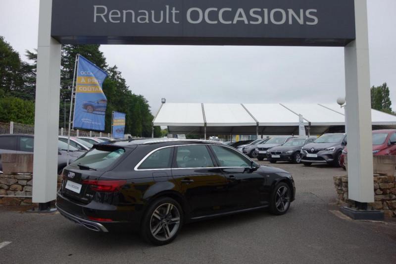 Audi A4 Avant 35 TDI 150 S tronic 7 S line Noir occasion à PLOERMEL - photo n°4