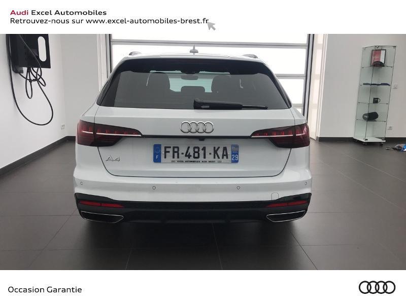 Audi A4 Avant 35 TDI 163ch S line S tronic 7 9cv Blanc occasion à Brest - photo n°5