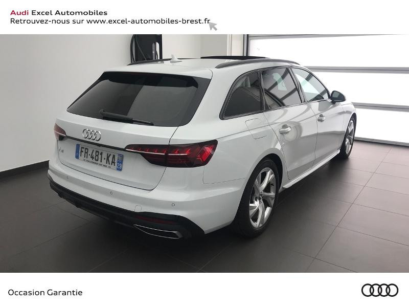 Audi A4 Avant 35 TDI 163ch S line S tronic 7 9cv Blanc occasion à Brest - photo n°4