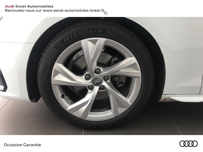 Audi A4 Avant 35 TDI 163ch S line S tronic 7 9cv Blanc occasion à Brest - photo n°16