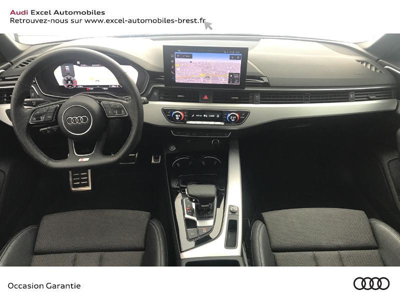 Audi A4 Avant 35 TDI 163ch S line S tronic 7 9cv Blanc occasion à Brest - photo n°7