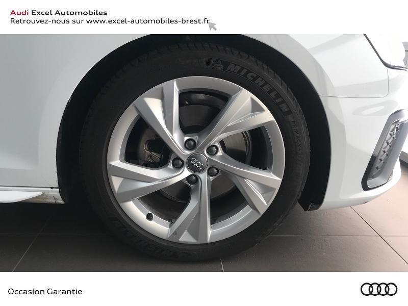 Audi A4 Avant 35 TDI 163ch S line S tronic 7 9cv Blanc occasion à Brest - photo n°19
