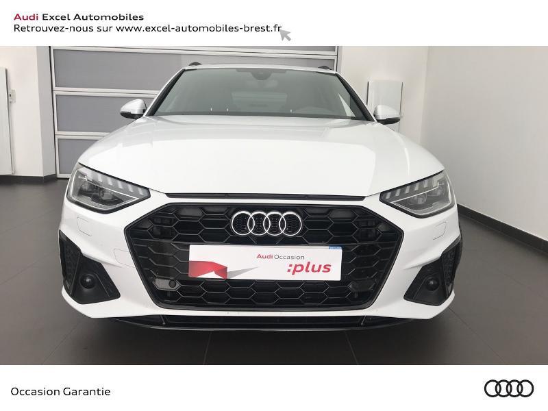 Audi A4 Avant 35 TDI 163ch S line S tronic 7 9cv Blanc occasion à Brest - photo n°2
