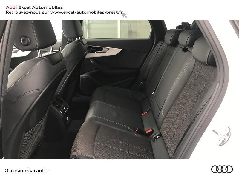Audi A4 Avant 35 TDI 163ch S line S tronic 7 9cv Blanc occasion à Brest - photo n°8