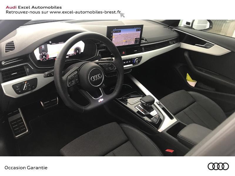 Audi A4 Avant 35 TDI 163ch S line S tronic 7 9cv Blanc occasion à Brest - photo n°6