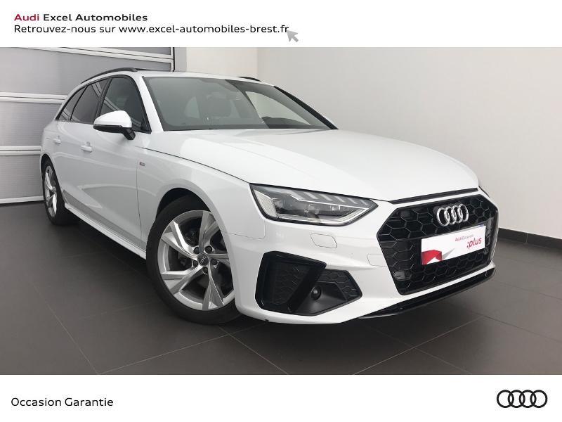 Audi A4 Avant 35 TDI 163ch S line S tronic 7 9cv Blanc occasion à Brest