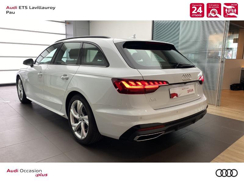 Audi A4 Avant 35 TDI 163ch S line S tronic 7 9cv Blanc occasion à Lescar - photo n°4