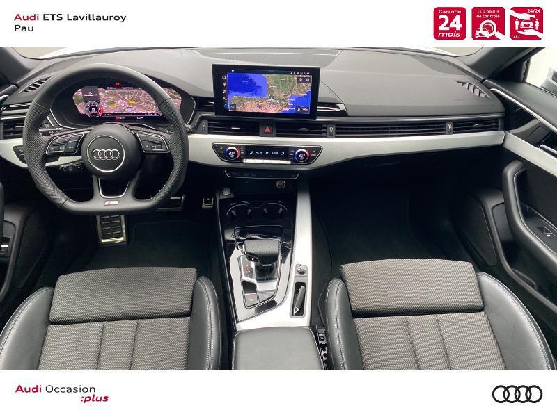 Audi A4 Avant 35 TDI 163ch S line S tronic 7 9cv Blanc occasion à Lescar - photo n°6