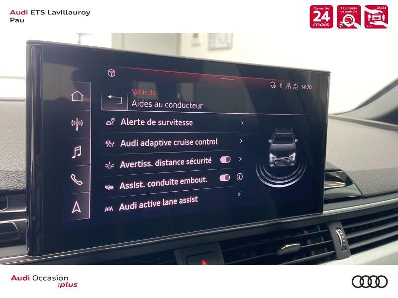 Audi A4 Avant 35 TDI 163ch S line S tronic 7 9cv Blanc occasion à Lescar - photo n°17
