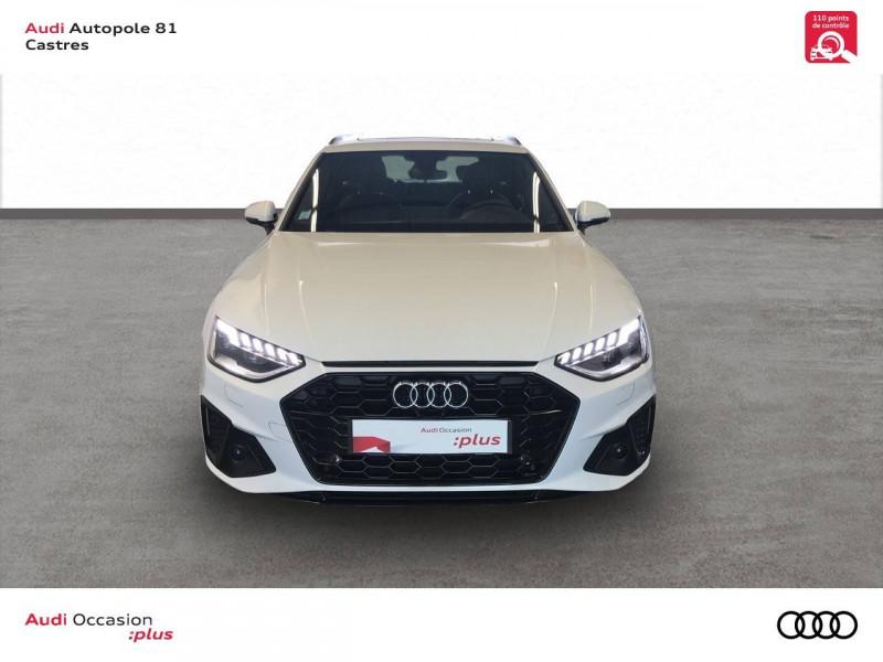 Audi A4 Avant A4 Avant 40 TDI 190 S tronic 7 S line 5p Blanc occasion à Castres - photo n°4