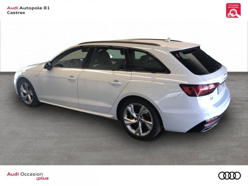 Audi A4 Avant A4 Avant 40 TDI 190 S tronic 7 S line 5p Blanc occasion à Castres - photo n°3