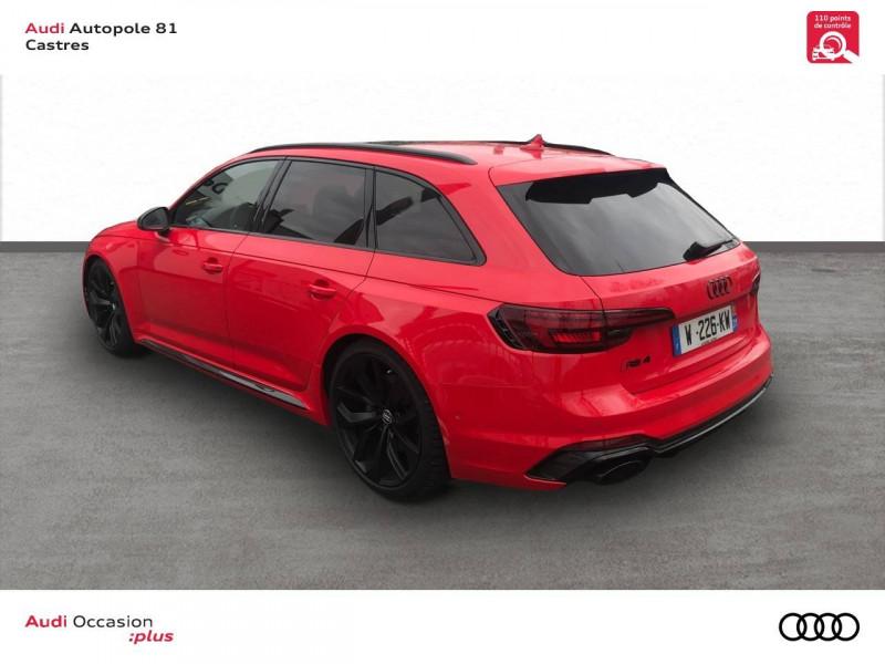 Audi A4 Avant RS4 Avant V6 2.9 TFSI 450 ch Tiptronic 8 Quattro  5p Rouge occasion à Castres - photo n°3