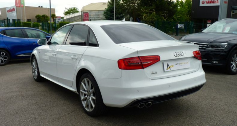 Audi A4 2.0 TDI 120 S-Line Blanc occasion à SAINT MAXIMUM - photo n°4