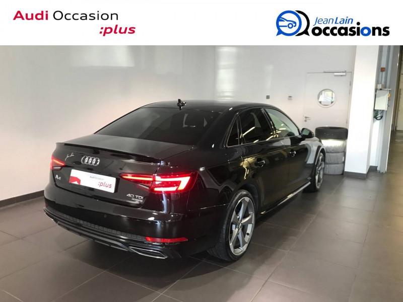 Audi A4 A4 2.0 TDI 190 S tronic 7 Quattro S line 4p Noir occasion à Annemasse - photo n°5