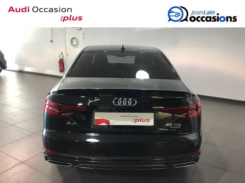 Audi A4 A4 2.0 TDI 190 S tronic 7 Quattro S line 4p Noir occasion à Annemasse - photo n°6