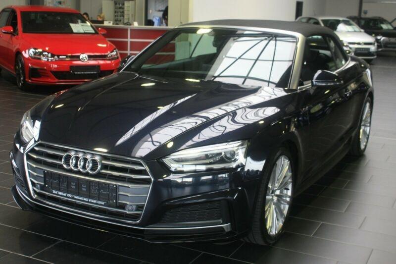 Audi A5 Cabriolet 2.0 TFSI 190CH S LINE S TRONIC 7 Bleu occasion à Villenave-d'Ornon
