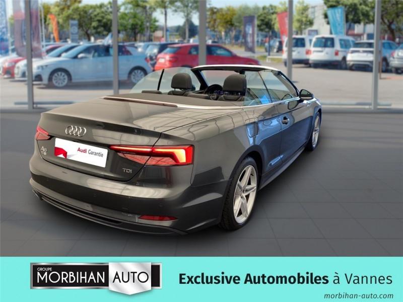 Audi A5 Cabriolet A5 Cabriolet 2.0 TDI 190 S tronic 7  occasion à Vannes - photo n°2