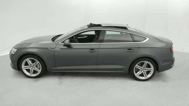 Audi A5 Sportback 3.0 TDI 272ch S line Quattro Tiptronic + Toit ouvrant Gris occasion à SAINT-GREGOIRE - photo n°2