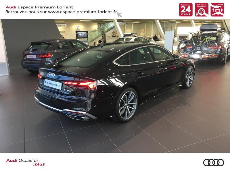 Audi A5 Sportback 40 TFSI 190ch S line S tronic 7 Euro6d-T 132g Noir occasion à Lanester - photo n°4