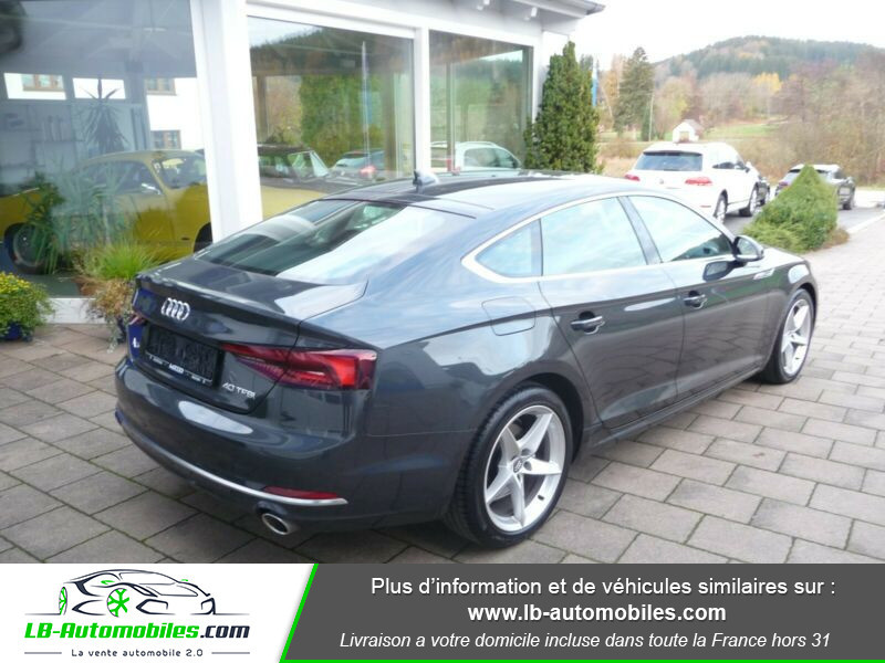 Audi A5 40 TFSI 190 S-tronic Gris occasion à Beaupuy - photo n°3