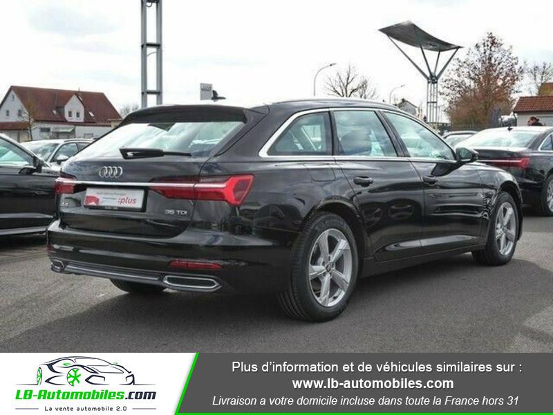 Audi A6 Avant 35 TDI 163 S tronic Noir occasion à Beaupuy - photo n°3