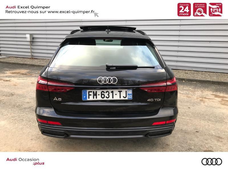 Audi A6 Avant 40 TDI 204ch S line S tronic 7 126g Noir occasion à Quimper - photo n°5
