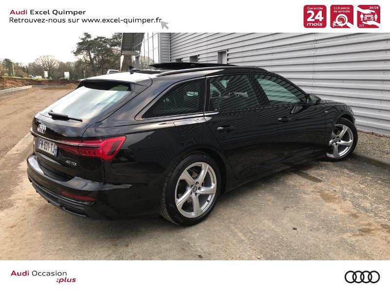 Audi A6 Avant 40 TDI 204ch S line S tronic 7 126g Noir occasion à Quimper - photo n°4