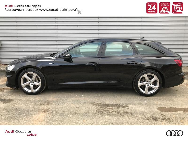 Audi A6 Avant 40 TDI 204ch S line S tronic 7 126g Noir occasion à Quimper - photo n°3