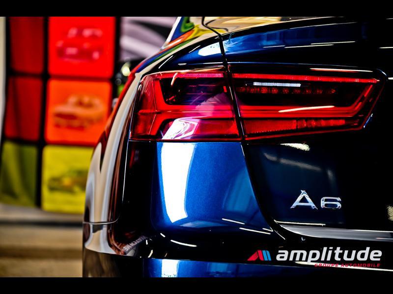 Audi A6 3.0 V6 TDI 272ch Ambition Luxe quattro S tronic 7 Bleu occasion à Dijon - photo n°8