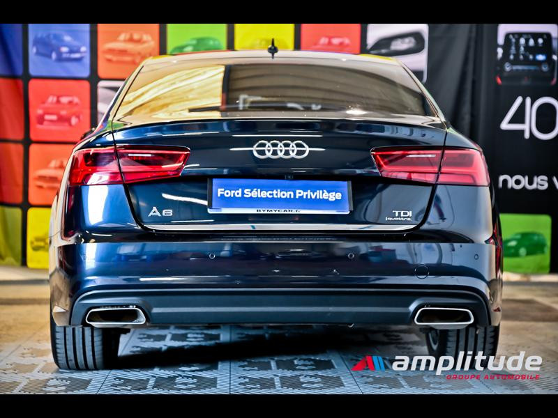 Audi A6 3.0 V6 TDI 272ch Ambition Luxe quattro S tronic 7 Bleu occasion à Dijon - photo n°5