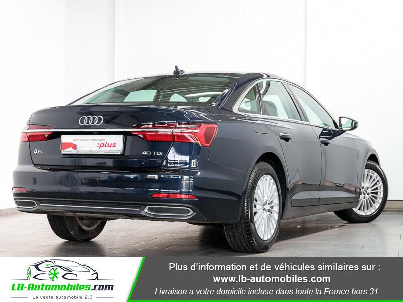 Audi A6 40 TDI 204 S tronic Bleu occasion à Beaupuy - photo n°3