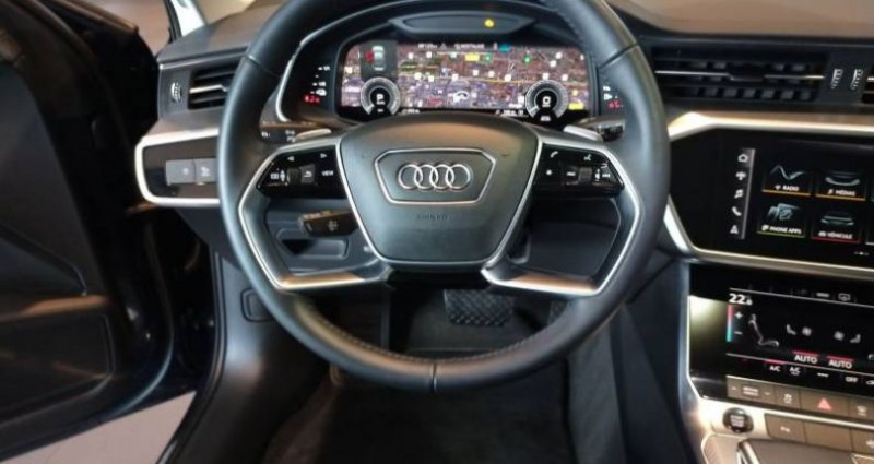 Audi A6 50 TFSIe 299 ch S tronic 7 Quattro Avus Extended Bleu occasion à Chenove - photo n°5