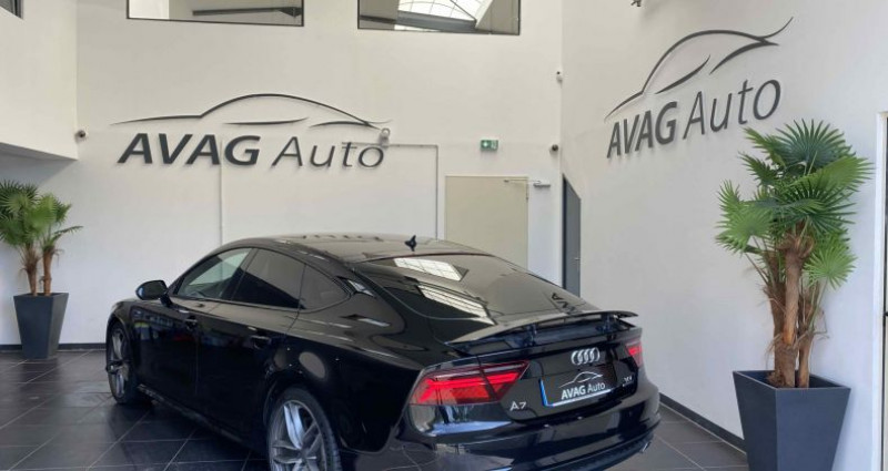 Audi A7 Sportback (2) V6 3.0 TDI 218 CV S-LINE QUATTRO S TRONIC 7 Noir occasion à Lagord - photo n°5