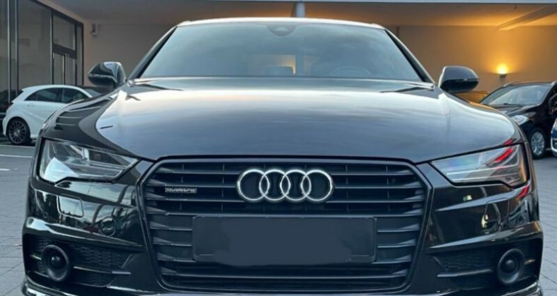 Audi A7 Sportback 3.0 V6 BiTDI 320 S line 4X4 Noir occasion à Boulogne-Billancourt - photo n°4