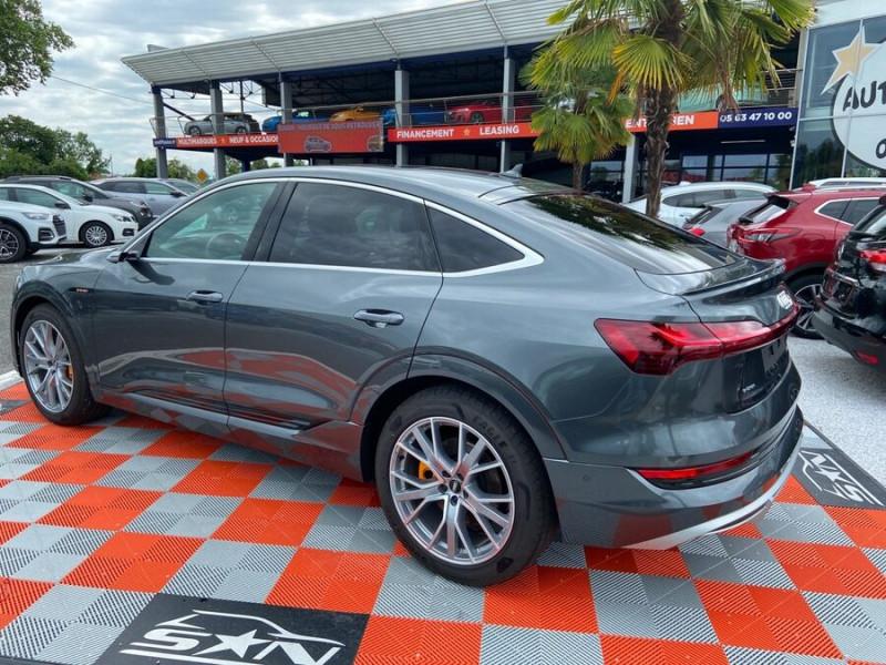 Audi e-tron Sportback 50 QUATTRO 313 AVUS Rétros Virtuels Toit Pano Pack Tour JA21 Gris occasion à Saïx - photo n°5