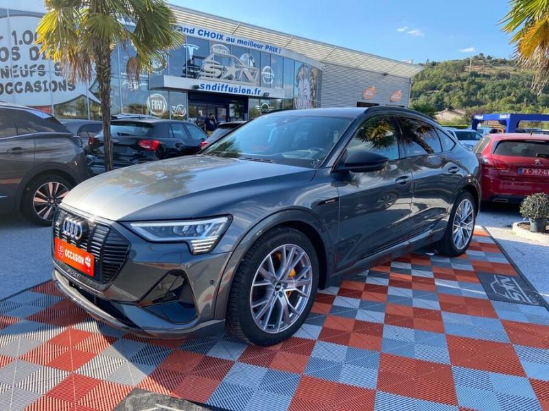Audi e-tron Sportback 55 QUATTRO 408 SLINE GPS Toit Pano JA21 Attelage Gris occasion à Montauban