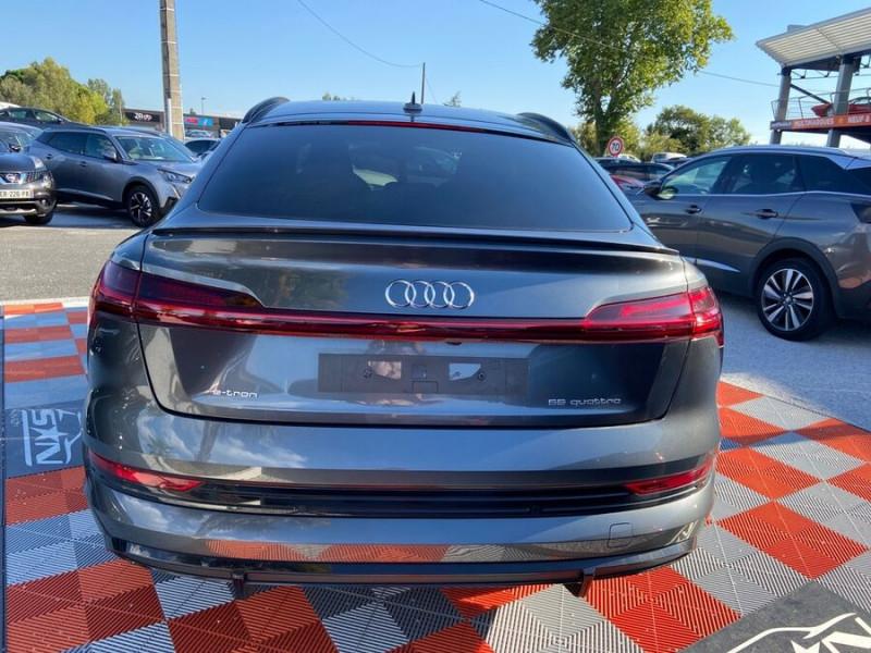 Audi e-tron Sportback 55 QUATTRO 408 SLINE GPS Toit Pano JA21 Attelage Gris occasion à Montauban - photo n°6