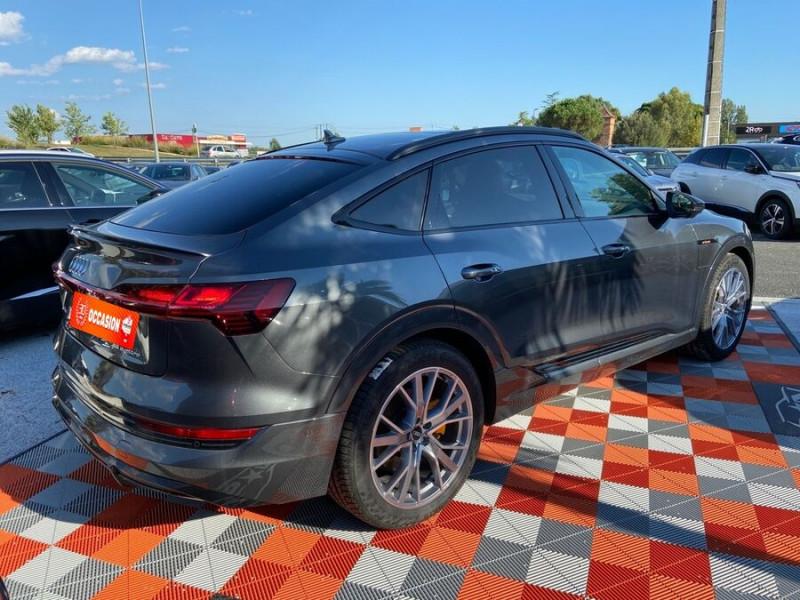 Audi e-tron Sportback 55 QUATTRO 408 SLINE GPS Toit Pano JA21 Attelage Gris occasion à Montauban - photo n°2