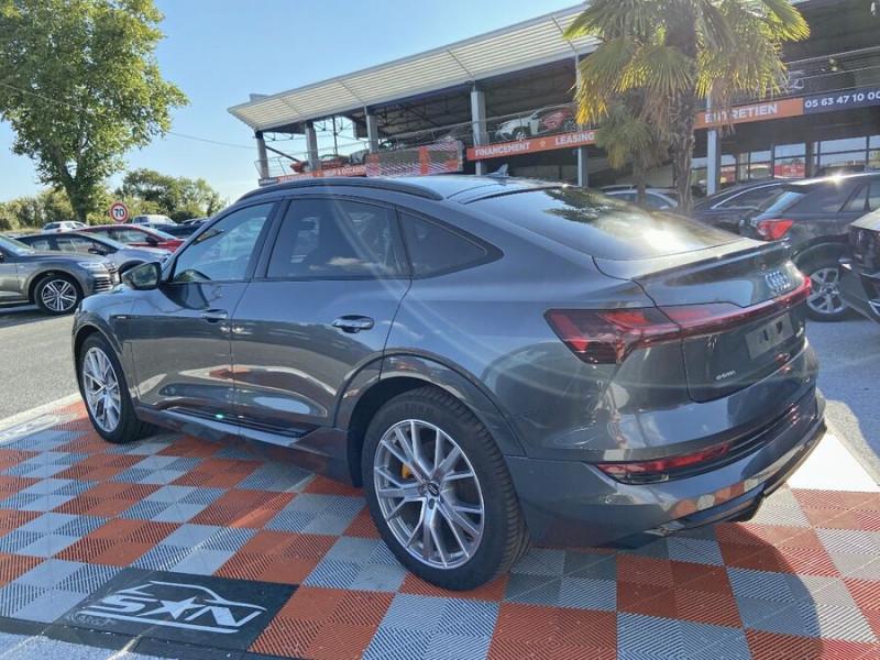 Audi e-tron Sportback 55 QUATTRO 408 SLINE GPS Toit Pano JA21 Attelage Gris occasion à Montauban - photo n°5