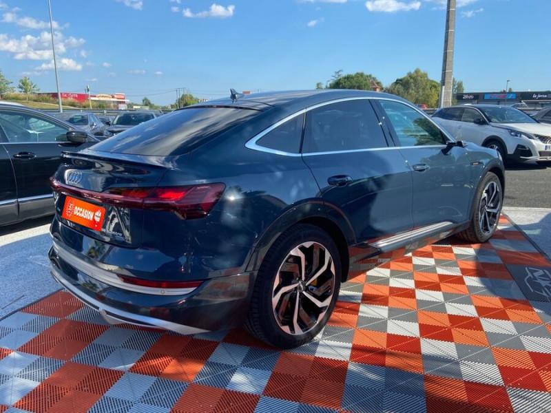 Audi e-tron Sportback 55 QUATTRO 408 SLINE GPS Toit Pano JA21 Rétros virtuels  occasion à Cahors - photo n°2