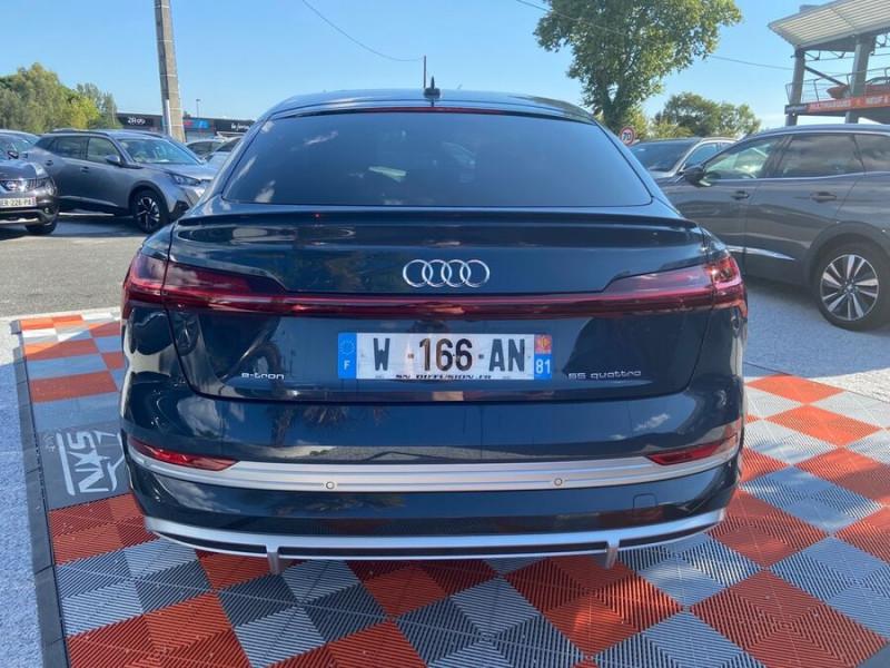 Audi e-tron Sportback 55 QUATTRO 408 SLINE GPS Toit Pano JA21 Rétros virtuels  occasion à Cahors - photo n°6
