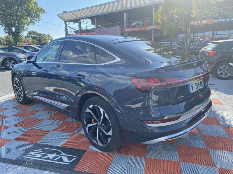 Audi e-tron Sportback 55 QUATTRO 408 SLINE GPS Toit Pano JA21 Rétros virtuels  occasion à Cahors - photo n°5