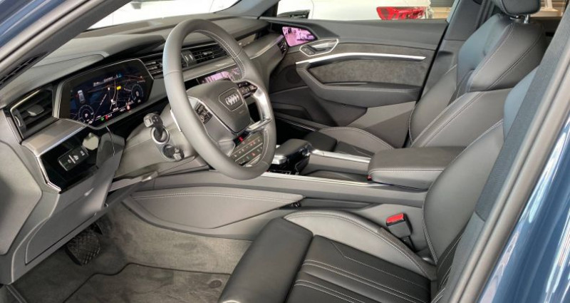 Audi E-tron SPORTBACK Sportback 55 quattro 408 ch S line Bleu occasion à Bourgogne - photo n°3