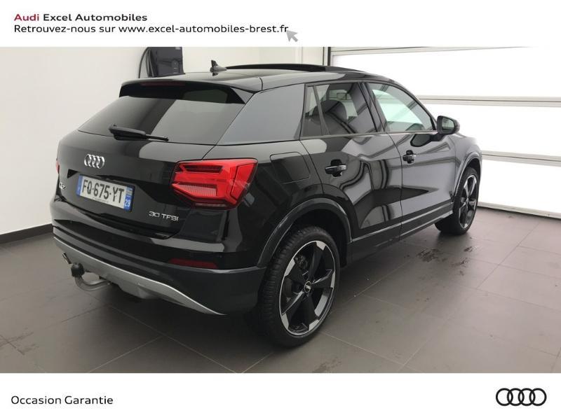 Audi Q2 30 TFSI 116ch Design luxe Euro6dT Noir occasion à Brest - photo n°4