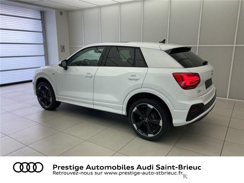 Audi Q2 35 TDI 150 S TRONIC 7 QUATTRO Blanc occasion à Saint-Brieuc - photo n°3