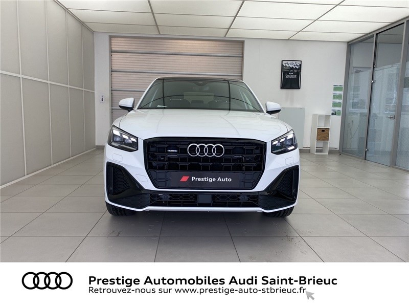 Audi Q2 35 TDI 150 S TRONIC 7 QUATTRO Blanc occasion à Saint-Brieuc - photo n°2