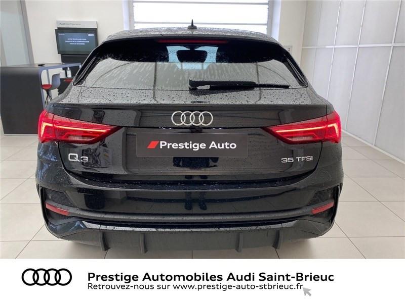 Audi Q3 35 TFSI 150 CH S TRONIC 7 Noir occasion à Saint-Brieuc - photo n°4