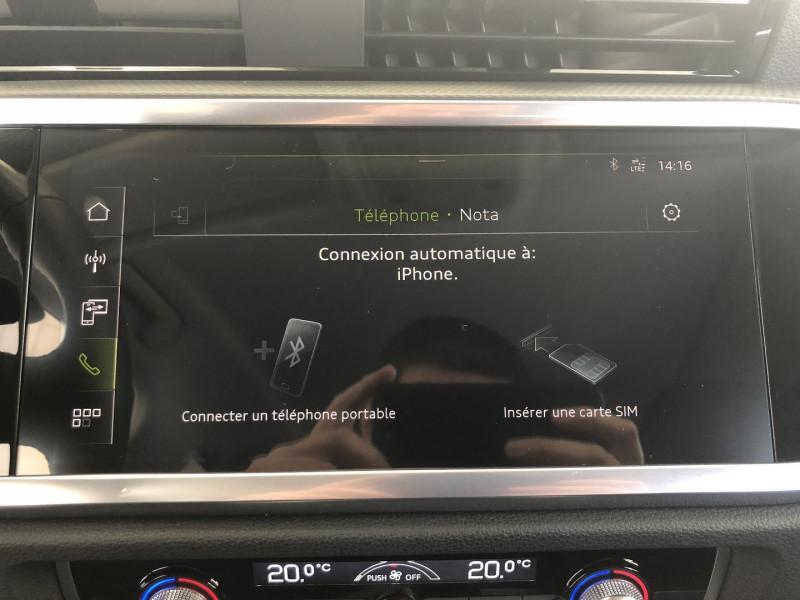 Audi Q3 35 TFSI 150CH DESIGN Blanc occasion à FENOUILLET - photo n°10