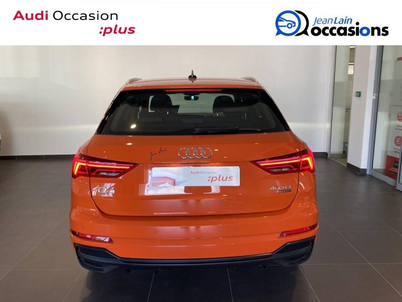 Audi Q3 Q3 40 TDI 190 ch S tronic 7 Quattro S line 5p Orange occasion à Échirolles - photo n°3